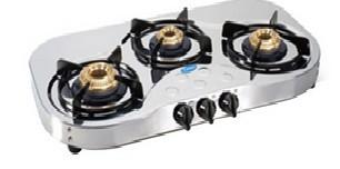 Glen 3 Burner Stainless Steel Cooktop GL 1035 PL HF