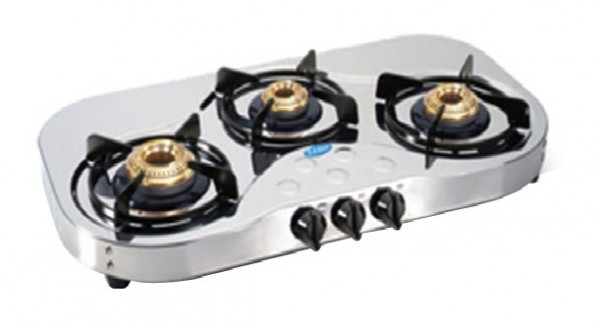Glen 3 Burner Stainless Steel Cooktop GL 1035 PL HF Ai
