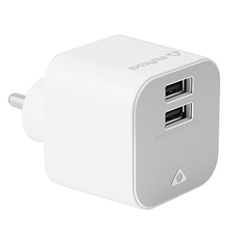 Stuffcool 3.4A Dual USB Mobile Charger Zenit for iPad, iPhone, iPod, Smartphone