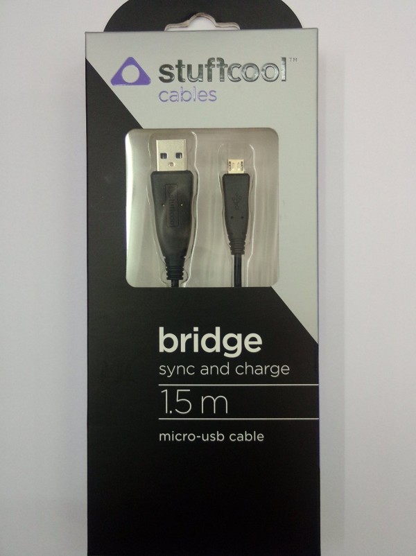 Stuffcool Bridge 1.5M Sync & Charge Micro USB Cable for Smartphones