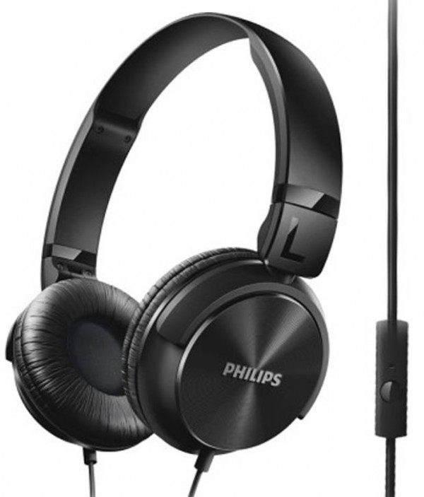 Philips SHL3195BK On-Ear Headphones with Mic (Black)