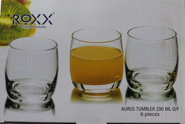 Roxx Aurus Tumbler 295 ml 6 pcs. Glass Set