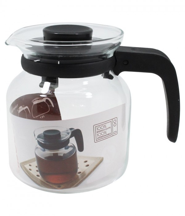 Borosil Carafe with Strainer in Lid, 1.2 Litres