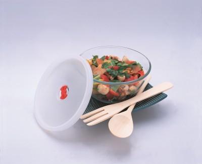 Borosil Mixing Bowl with Plastic Lid 1.3L Glass Bowl