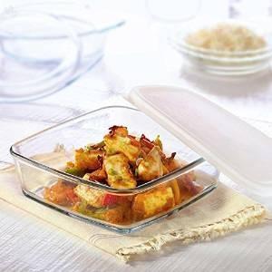 Borosil Square Dish with Lid Storage, 800ml