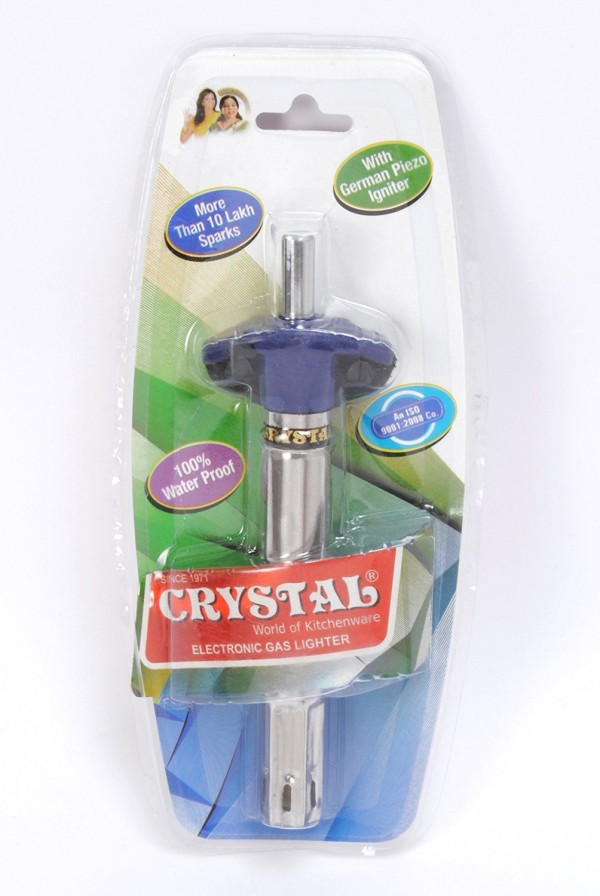 Crystal Gas Stove Lighter, Stainless Steel Aristo