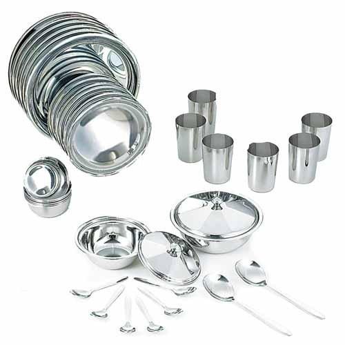 Neelam Stainless Steel Dinner Set Premium 36 pieces