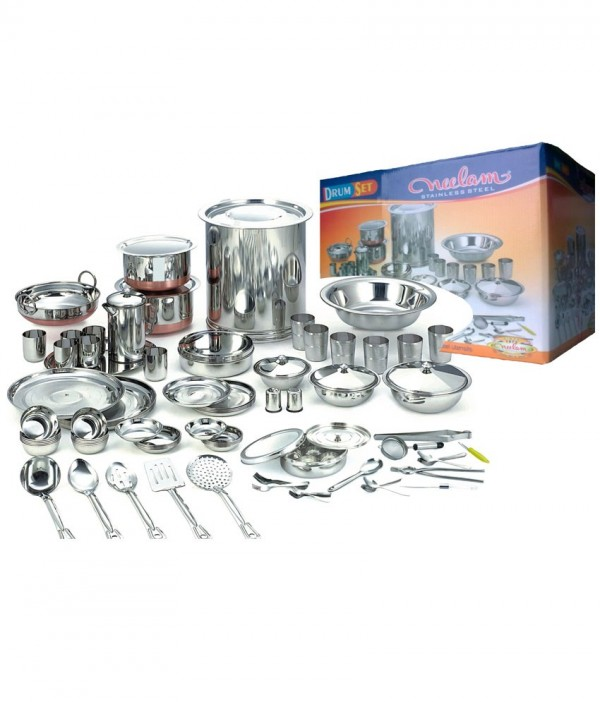Neelam 101 Pcs Premium Drum Dinner Set