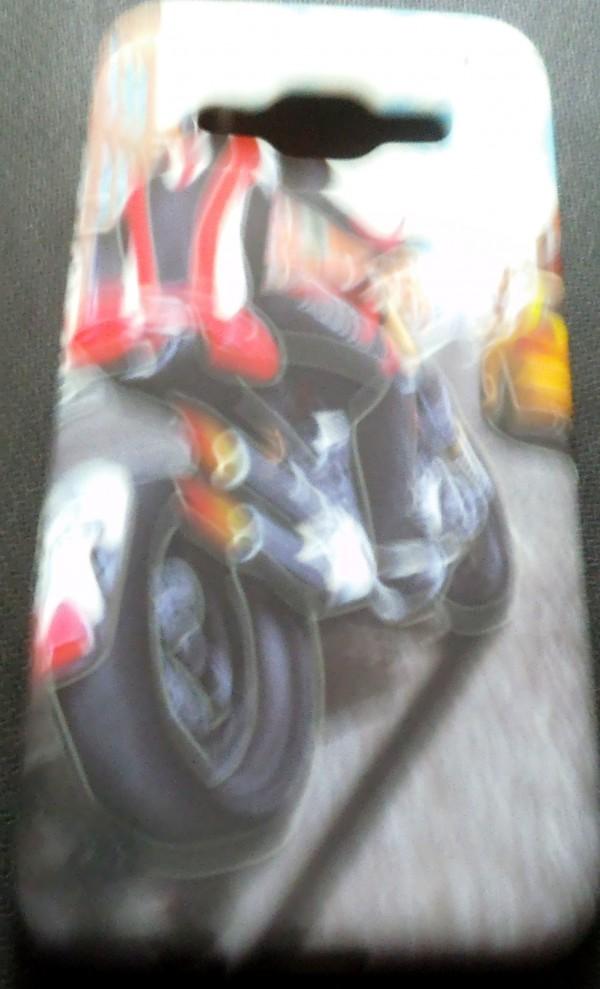 SAMSUNG GALAXY E5  Back Cover (Bike Rider)