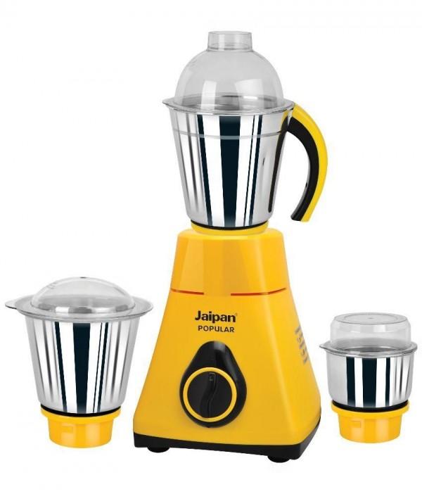 Jaipan JPO-550-2 Popular Mixer Grinder Yellow