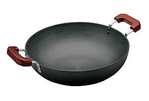 Hawkins Futura Deep fry Pan L71 7.5L With 2 Short Handles (Flat Bottom)