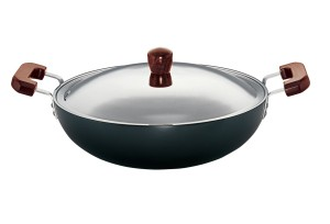 Hawkins Futura Deep fry Pan L72 7.5L With Lid & With 2 Short Handles (Flat Bottom)