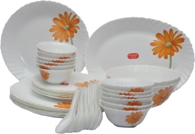 LaOpala Crimson Bloom Pack of 33 Dinner Set