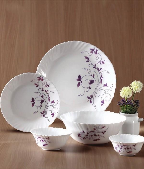 LaOpala Diva Dazzle Purple Dinner Set 33 Pcs