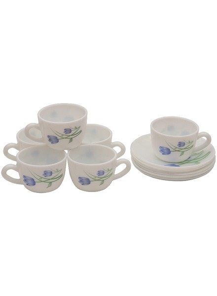 Laopal 6 Pcs Breeze Blue Cup & Saucer
