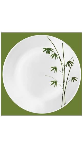 LaOpala Ivory Green Foliage Dinner Set-27 Pcs