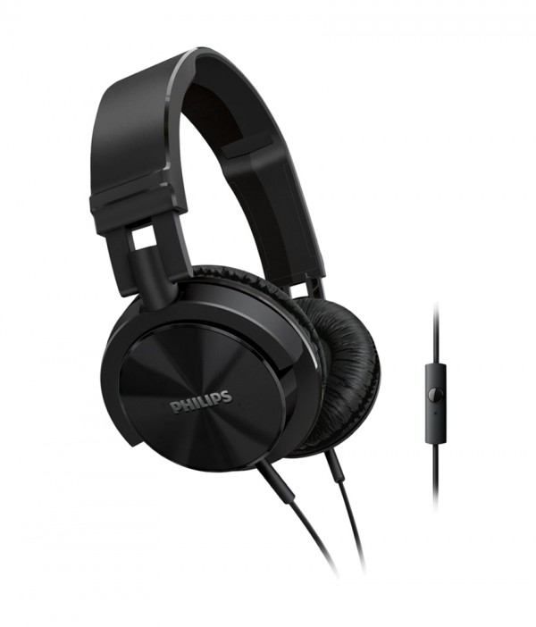 Philips SHL3005BK/00 Over Ear DJ Style Headphones - Black With Mic