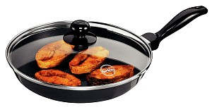 Hawkins Futura Frying Pan Q22 With Glass Lid