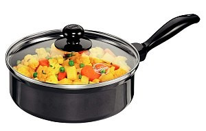 Hawkins Futura Curry Pan Q62 2L With Glass Lid(Saute Pan)