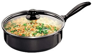 Hawkins Futura Curry Pan Q92 3.25L With Glass Lid(Saute Pan)