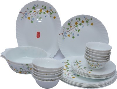 LaOpala Floral Magic Pack of 27 Dinner Set (Ceramic)