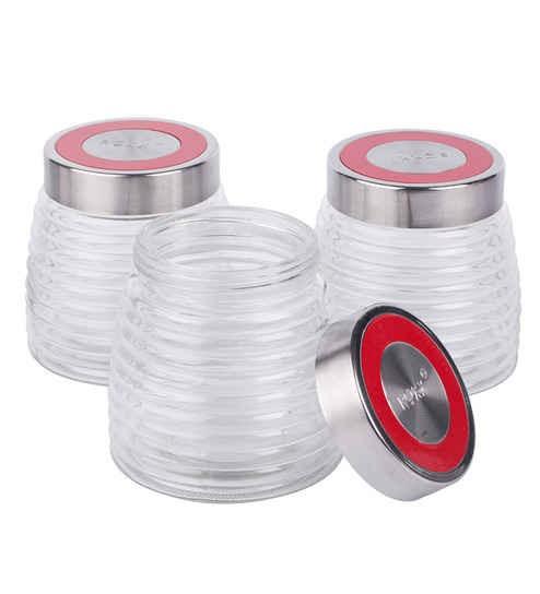 Roxx New Cascade Transparent Jar - Set of 3