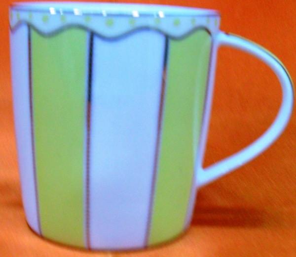 HI LUXE Stripe Mug Set (yellow)