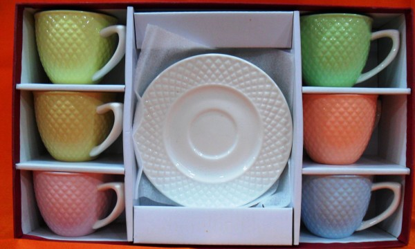 Hi Luxe Elite Range Tea Cup & Saucer set 12 Pc