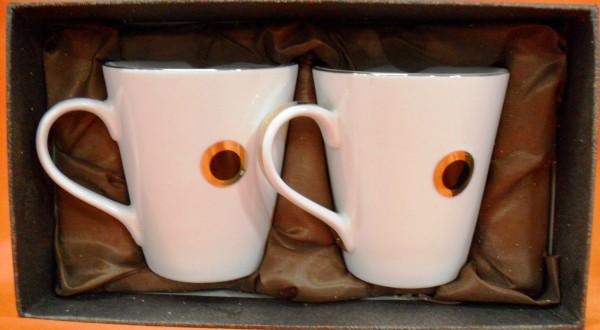 Hi Luxe Crystal Collection Mug 2 Pc Set Mercury