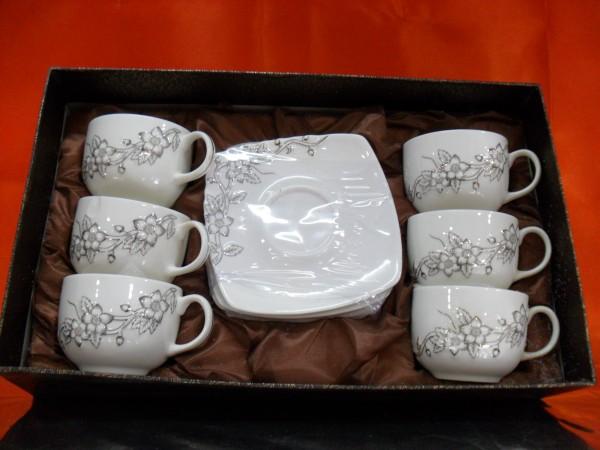 Hi Luxe Art & Living 6 Pc Cup Saucer