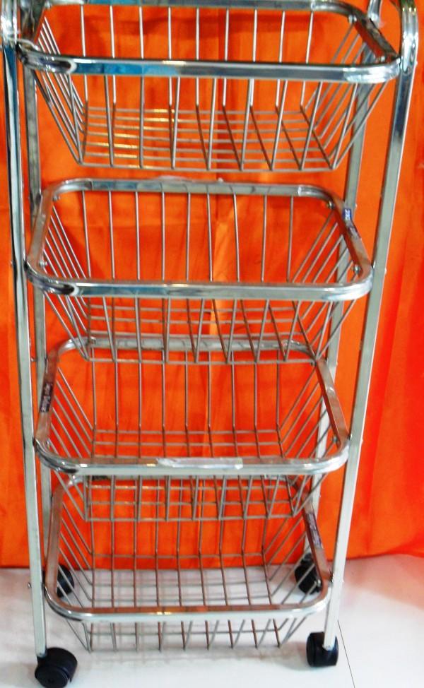 Manya World 4 shelf Basket Trolly (Square Section)