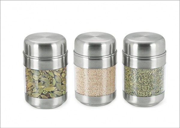 Sizzle Clear Containers 150 Ml Set Of 3 Twist Canisters S6