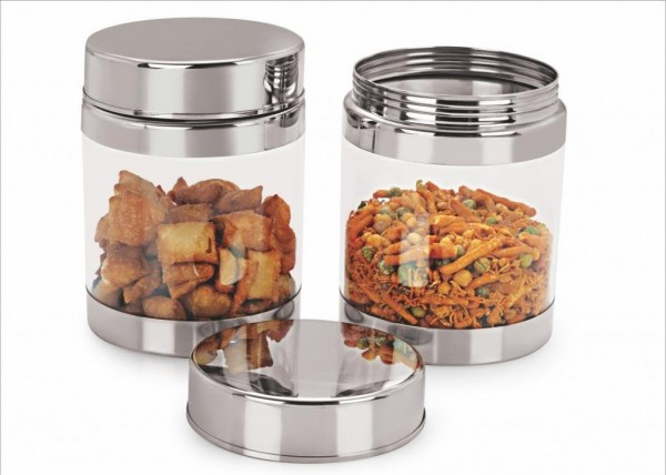 Sizzle Containers 1200 ml Set of 2 Galaxy Clear Jar S12