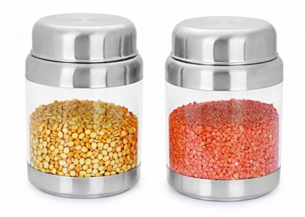 Sizzle Crystal Clear Containers 1200 ml Set of 2 Storage Box S12