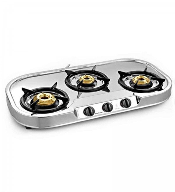 Sunflame Spectra Stainless Steel 3-burner Auto Ignition Cooktop