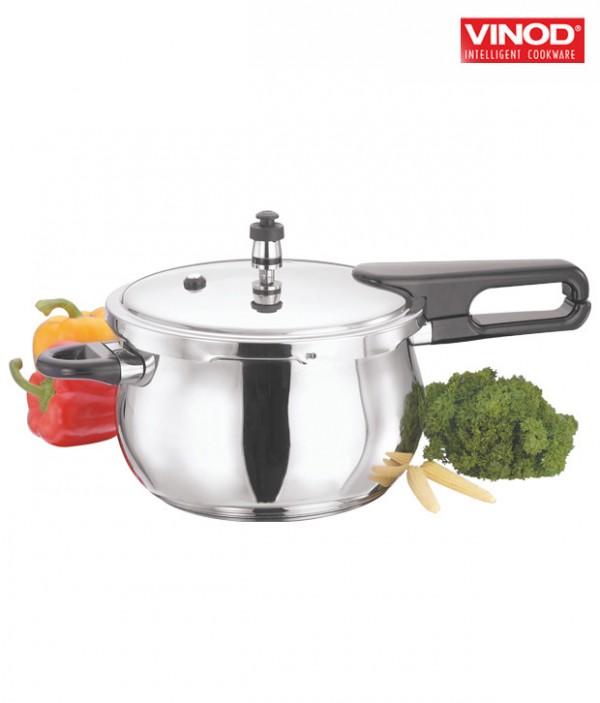 Vinod 3.5 Ltr Splendid Plus Pressure Cooker With Lid (Special HANDI Shape)
