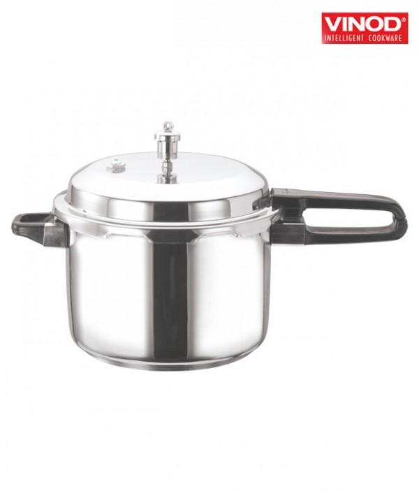 Vinod 5 Ltr Stainless Steel Sandwich Bottom Pressure Cooker With Lid