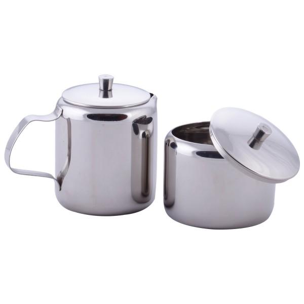 Vinod Milk Pot & Sugar Pot with Cover Steel Medium 250 ml