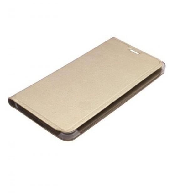 Vivo V3 Golden Leather Flip Cover  (Glden)