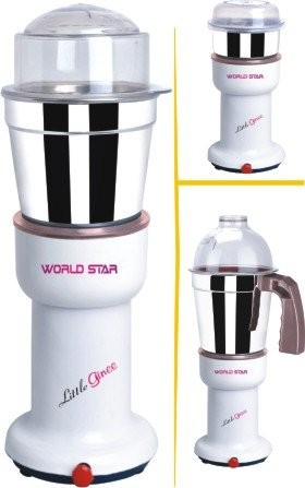 Worldstar Sr. Little Ginee 400 W  Mixer Grinder 3 Jar