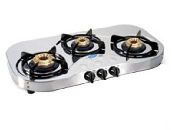 Glen 3 Burner Stainless Steel Cooktop GL 1035 SS HF Ai