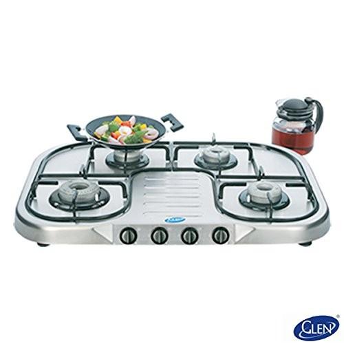 Glen 4 Burner Stainless Steel Cooktop GL 1047 PL HF Ultra Ai