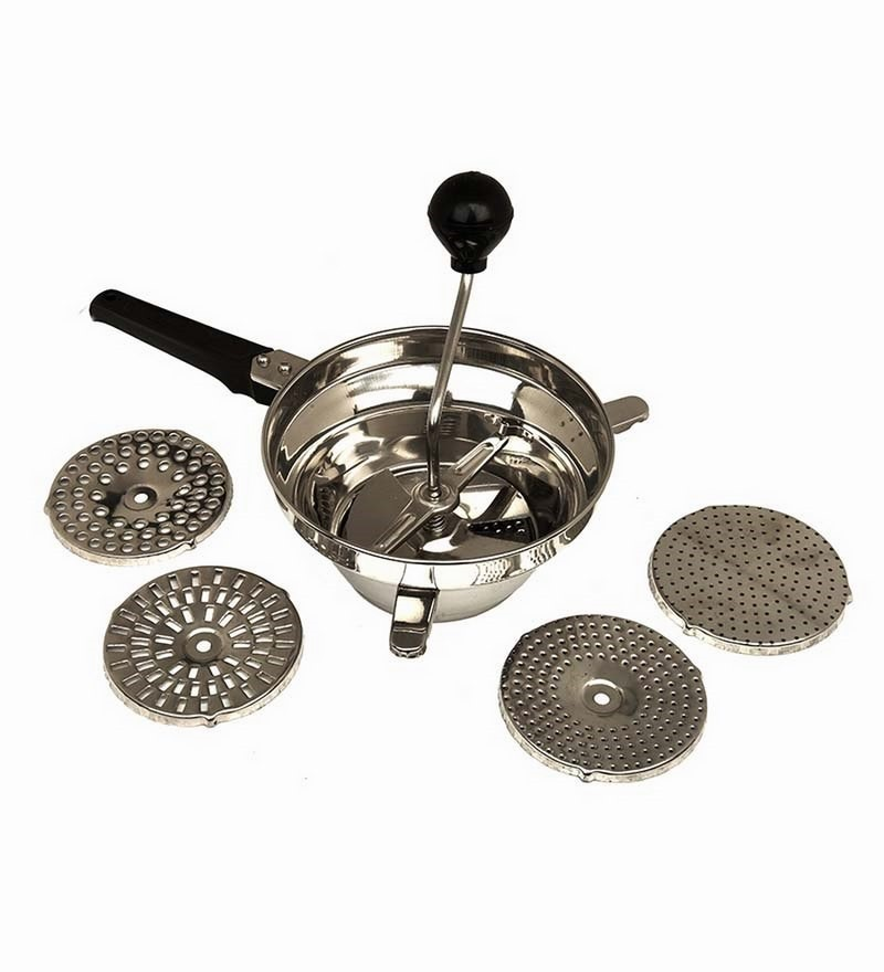 Anjali 5 Jali Stainless Steel Crusher Puran Deluxe