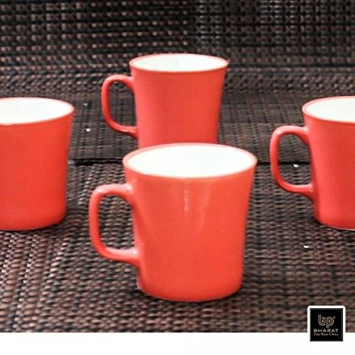 Bharat Coffee Mug Muddy Small 6 Pcs Set,Red