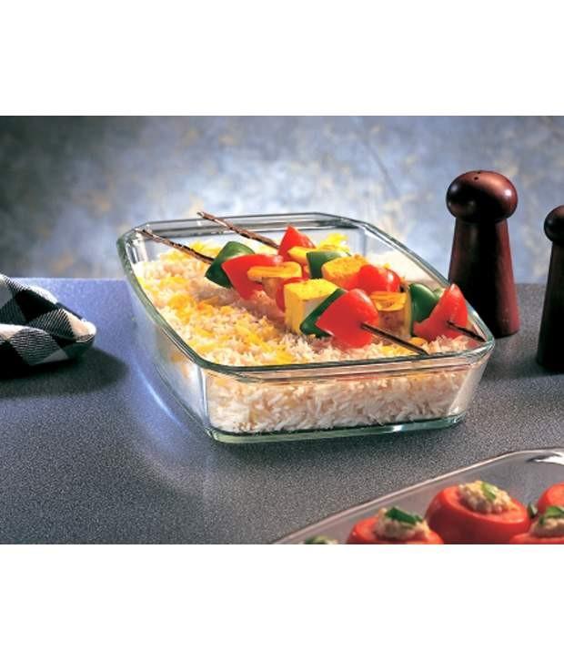 Borosil - Square Dish with Handle-800 ml