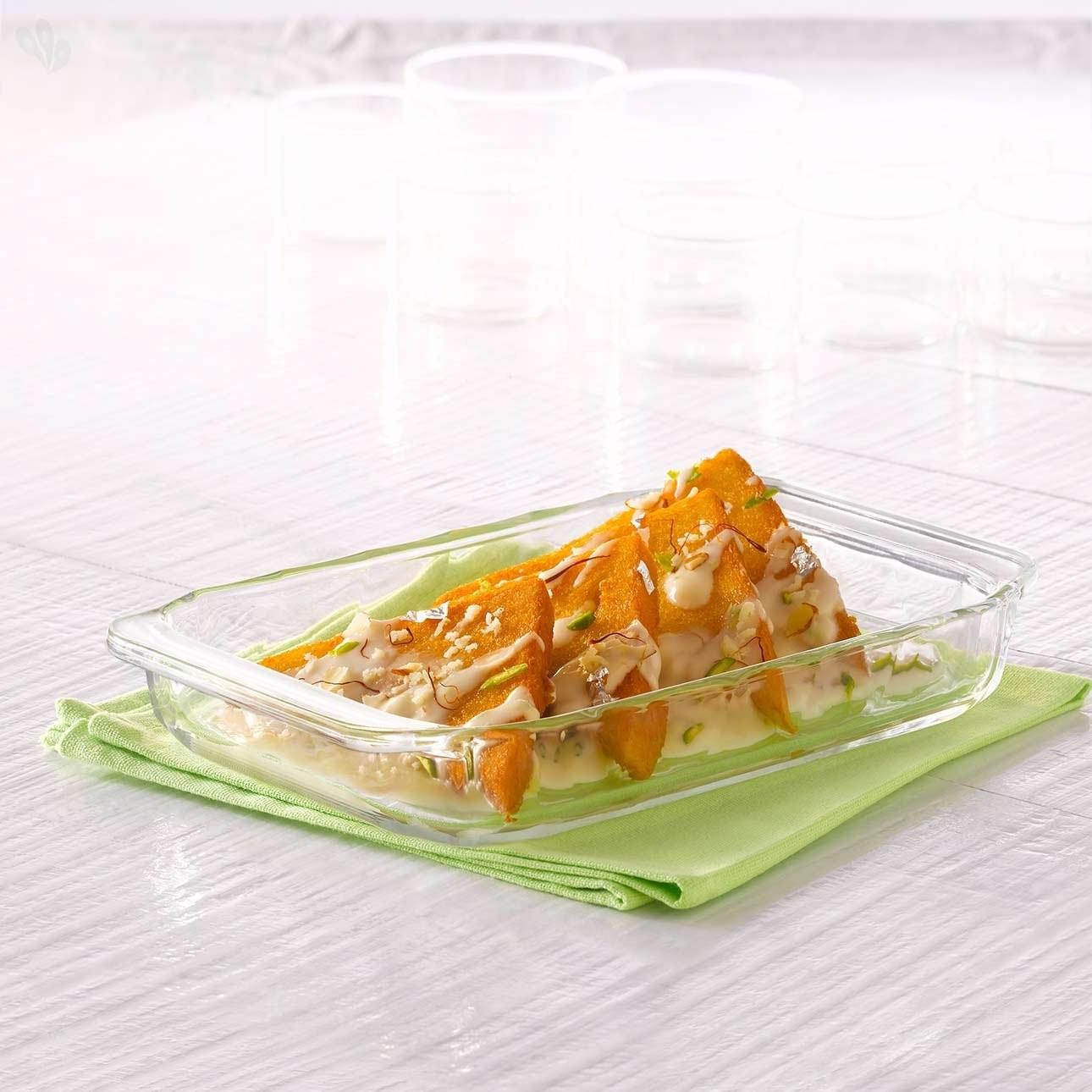 Borosil Rectangular Dish, 1.5 Litres