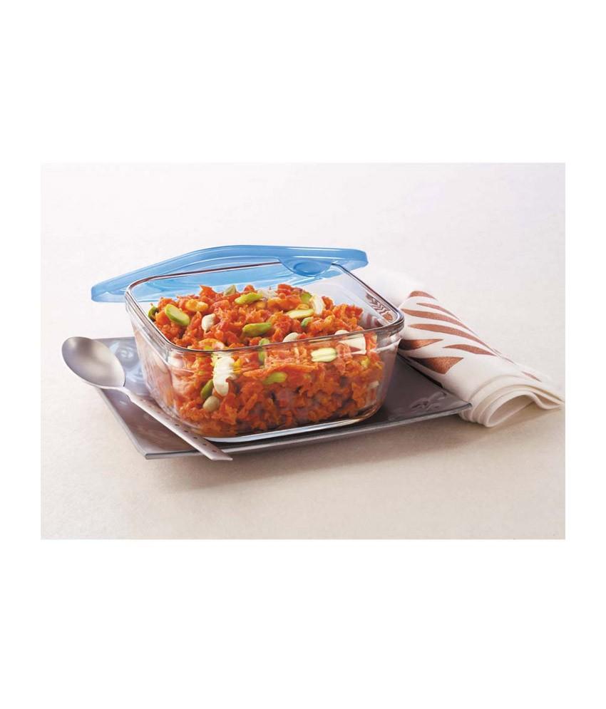 Borosil 3-in-1 Rectangular Dish, 450ml