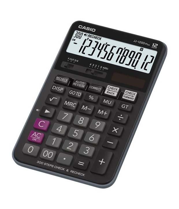 Casio JJ_120D_PLUS Desktop Calculator