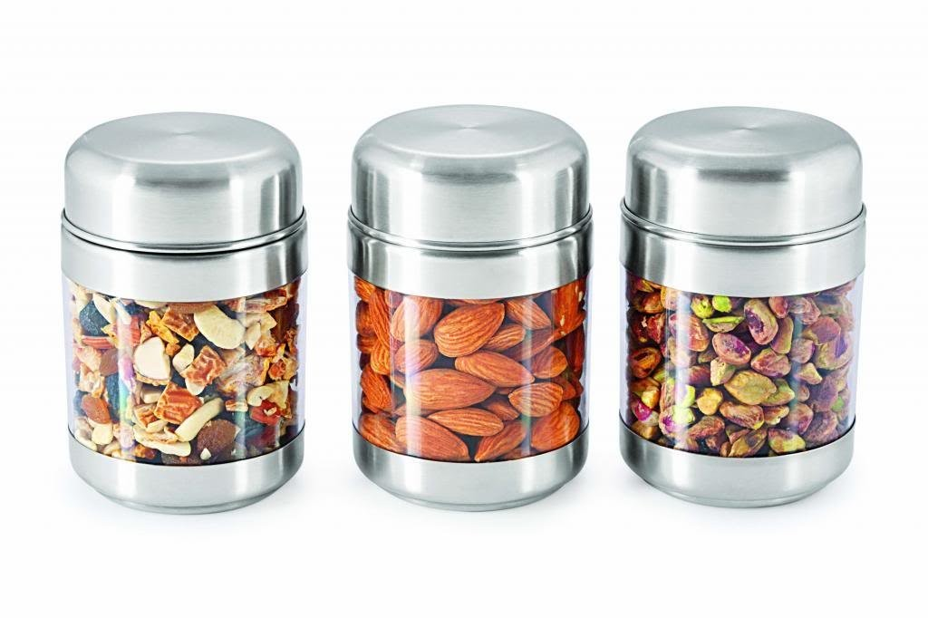 Sizzle Clear Containers 300 ml Set of 3 Twist Jar S8