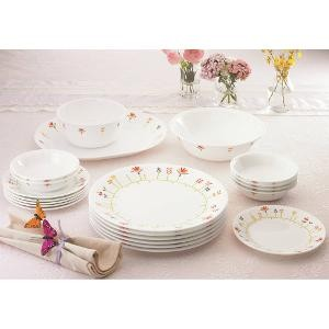 Corelle Vitrelle Glass 21 Pc Dinner Set - Spring Shot